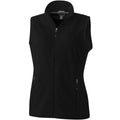 Solid Black - Front - Elevate Womens-Ladies Tyndall Micro Fleece Bodywarmer