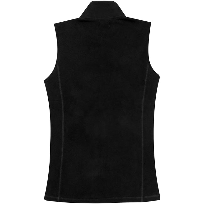 Solid Black - Back - Elevate Womens-Ladies Tyndall Micro Fleece Bodywarmer
