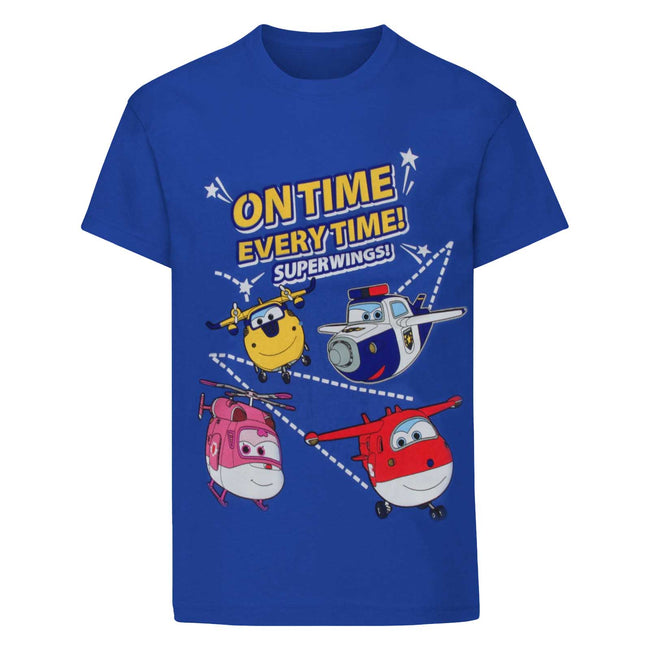Blue - Front - Super Wings Toddler Boys On Time Every Time T-Shirt