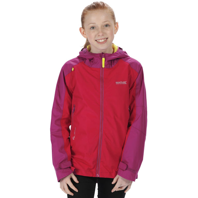 Duchess-Vivid Viola - Side - Regatta Great Outdoors Childrens-Kids Allcrest II Waterproof Jacket