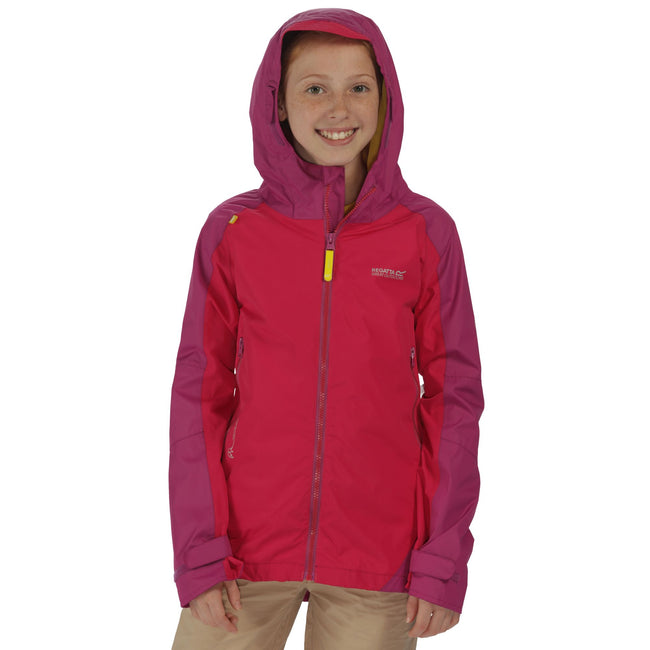 Duchess-Vivid Viola - Lifestyle - Regatta Great Outdoors Childrens-Kids Allcrest II Waterproof Jacket