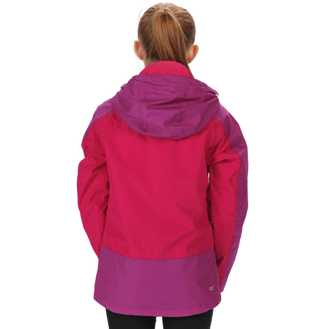Duchess-Vivid Viola - Pack Shot - Regatta Great Outdoors Childrens-Kids Allcrest II Waterproof Jacket