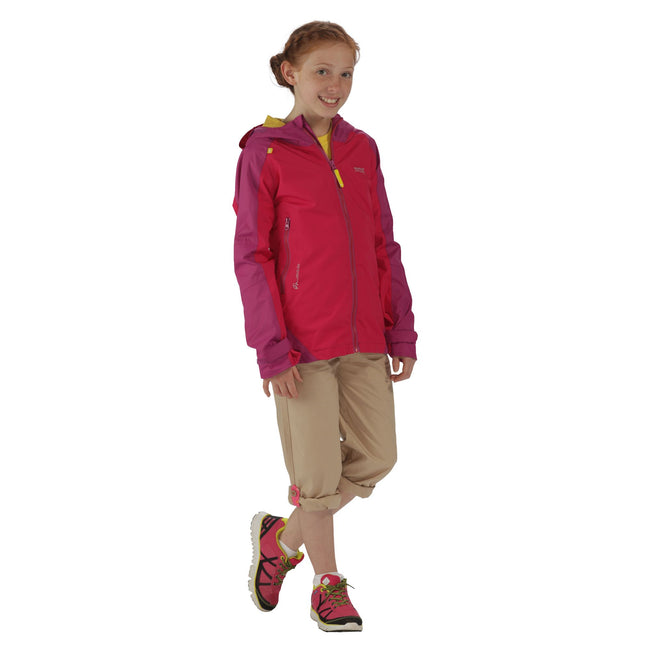 Duchess-Vivid Viola - Close up - Regatta Great Outdoors Childrens-Kids Allcrest II Waterproof Jacket