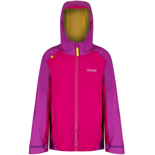 Duchess-Vivid Viola - Front - Regatta Great Outdoors Childrens-Kids Allcrest II Waterproof Jacket
