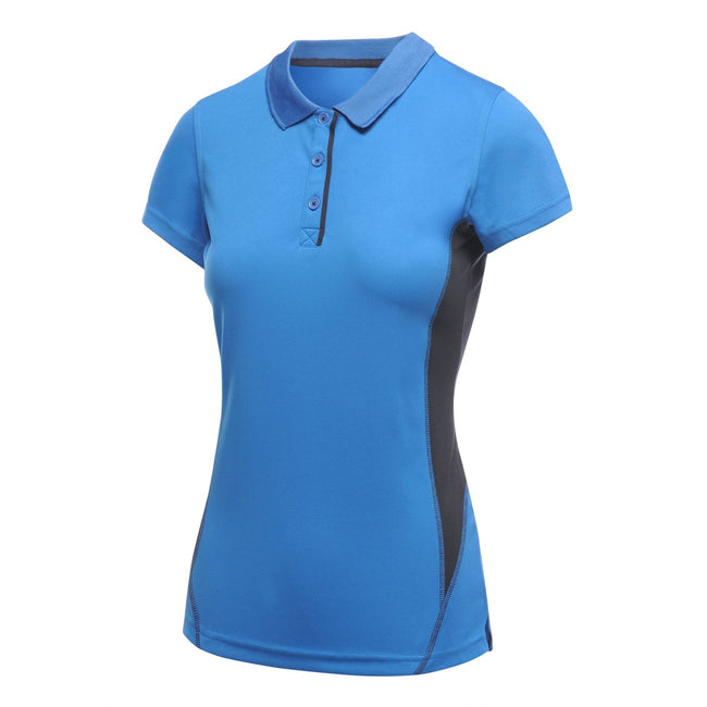 Oxford Blue - Front - Regatta Activewear Womens-Ladies Salt Lake Lightweight Short Sleeve Polo Shirt