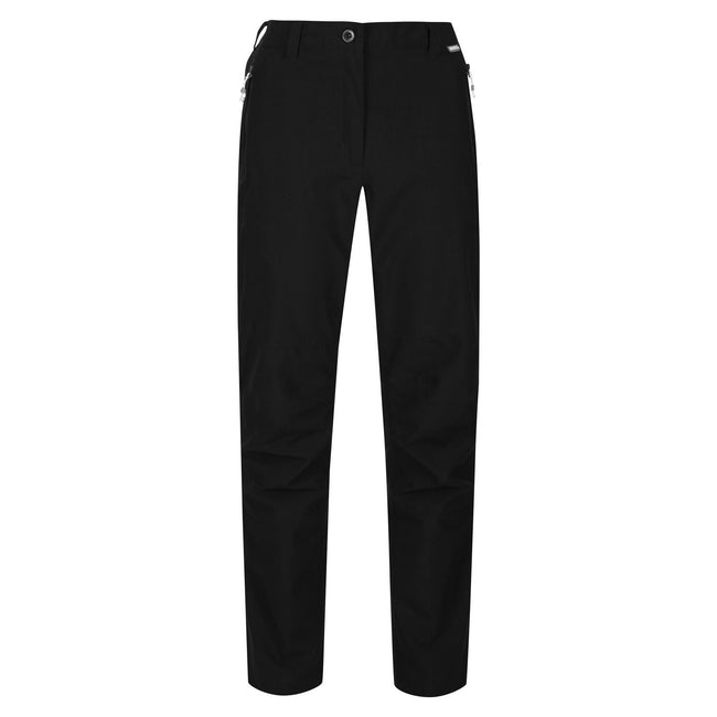 Black - Front - Regatta Great Outdoors Womens-Ladies Dayhike III Water Repellent Trousers