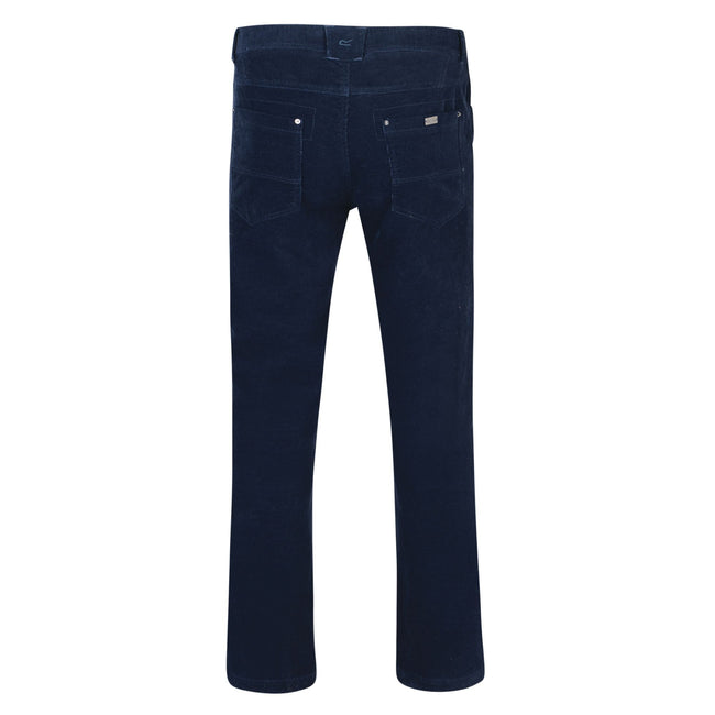 Navy - Back - Regatta Mens Landford Corduroy Trousers