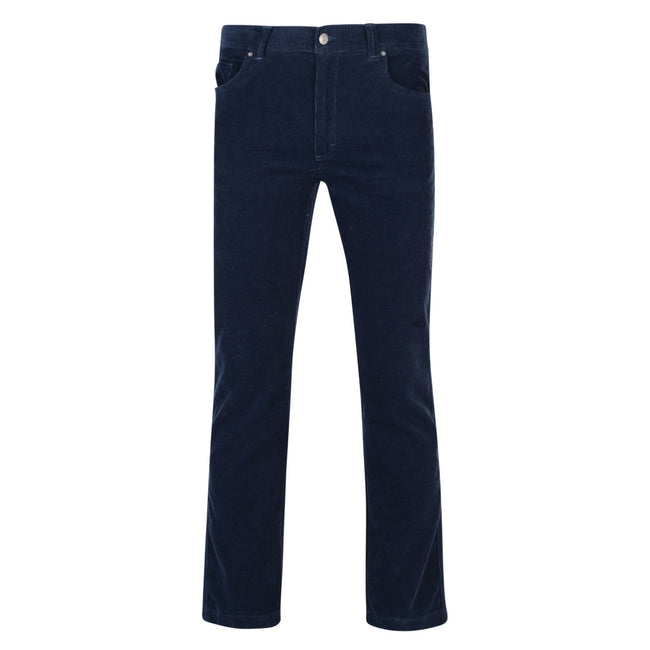 Navy - Front - Regatta Mens Landford Corduroy Trousers