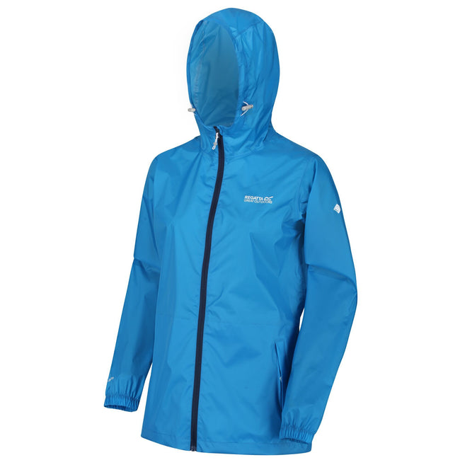 Blue Aster - Front - Regatta Womens-Ladies Pk It Jkt III Waterproof Hooded Jacket