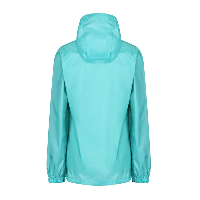 Turquoise - Side - Regatta Womens-Ladies Pk It Jkt III Waterproof Hooded Jacket