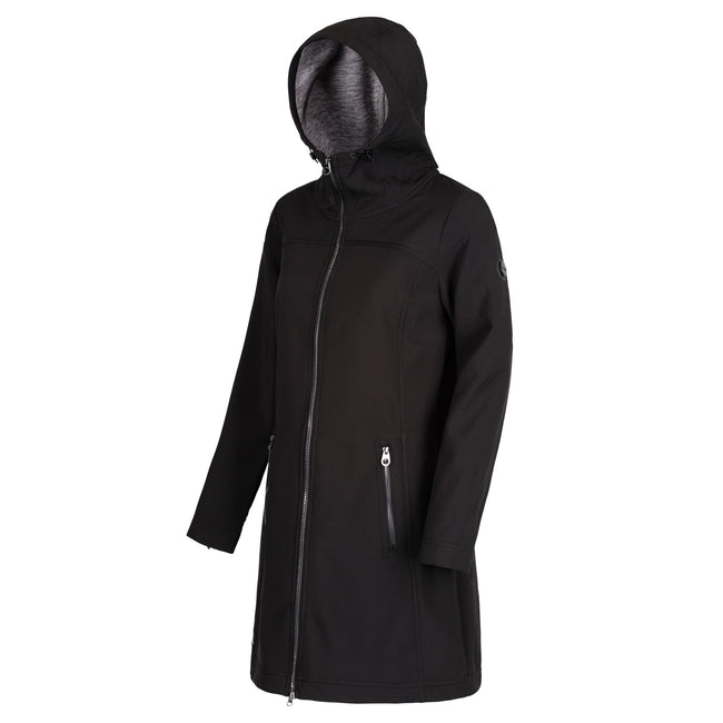 Black - Front - Regatta Womens-Ladies Alinta Full Length Hooded Jacket