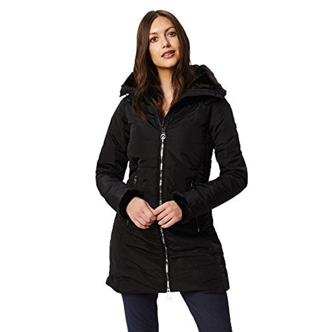 Black - Front - Regatta Womens-Ladies Pernella Full Length Hooded Jacket