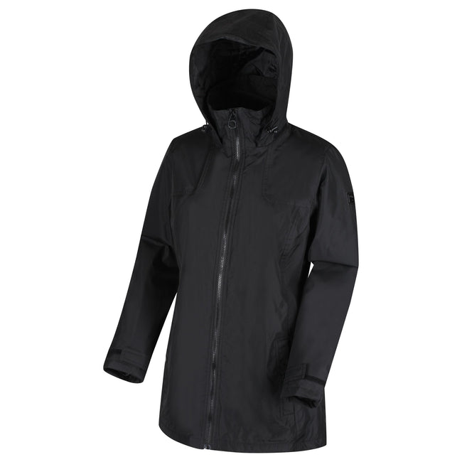 Black - Front - Regatta Womens-Ladies Mylee Full Length Hooded Jacket