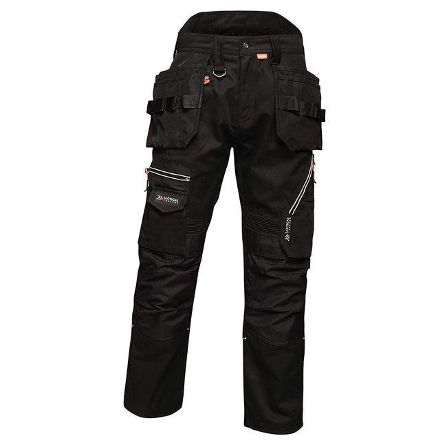 Black - Front - Regatta Mens Execute Holster Premium Work Trousers