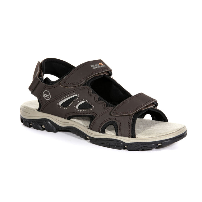 Briar Grey-Lime Punch - Front - Regatta Mens Holcombe Vent Sandals
