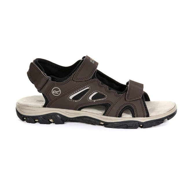 Briar Grey-Lime Punch - Back - Regatta Mens Holcombe Vent Sandals