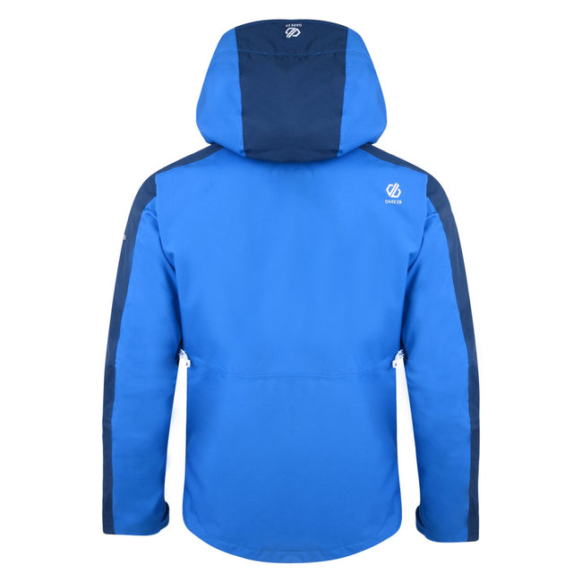 Oxford Blue-Admiral Blue - Back - Dare 2B Mens Diluent Lightweight Waterproof Jacket With Detachable Hood