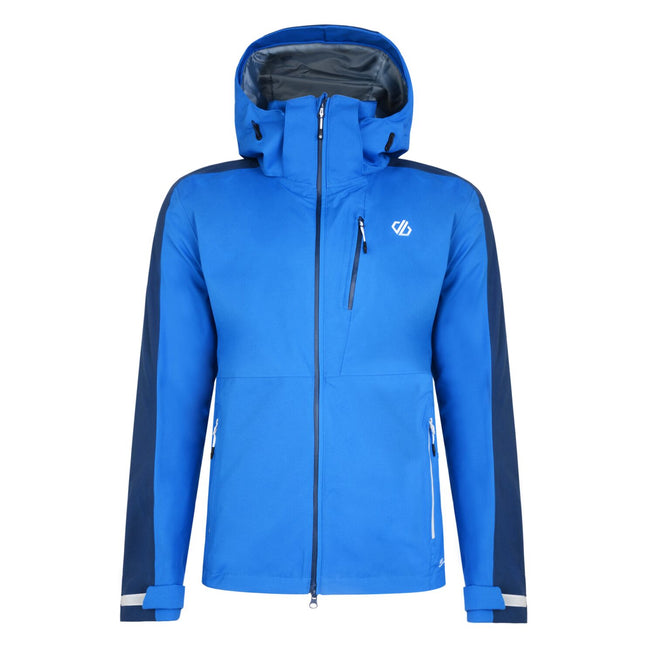 Oxford Blue-Admiral Blue - Front - Dare 2B Mens Diluent Lightweight Waterproof Jacket With Detachable Hood
