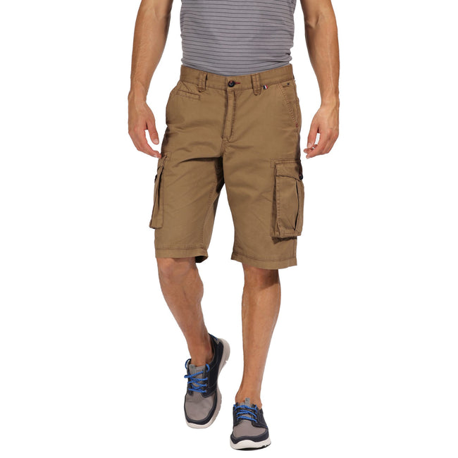 Navy - Front - Regatta Mens Shorebay Vintage Cargo Shorts