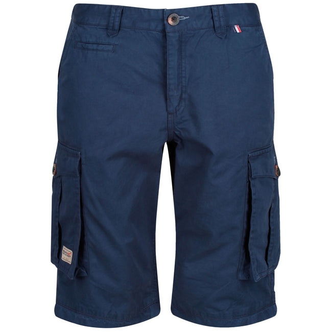 Navy - Back - Regatta Mens Shorebay Vintage Cargo Shorts