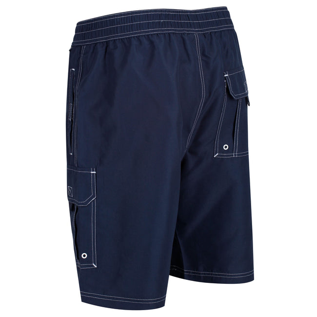 Navy - Pack Shot - Regatta Mens Hotham III Mesh Quick Drying Board Shorts