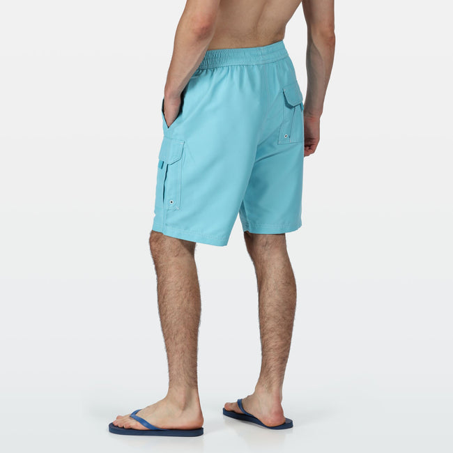 Blaze Orange - Front - Regatta Mens Hotham III Mesh Quick Drying Board Shorts