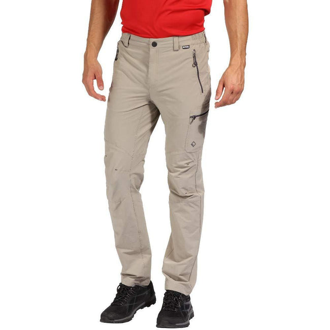 Parchment - Back - Regatta Mens Highton Water Repellent Hiking Trousers