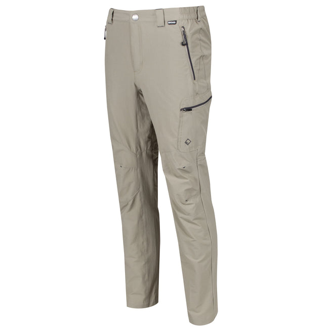 Parchment - Front - Regatta Mens Highton Water Repellent Hiking Trousers
