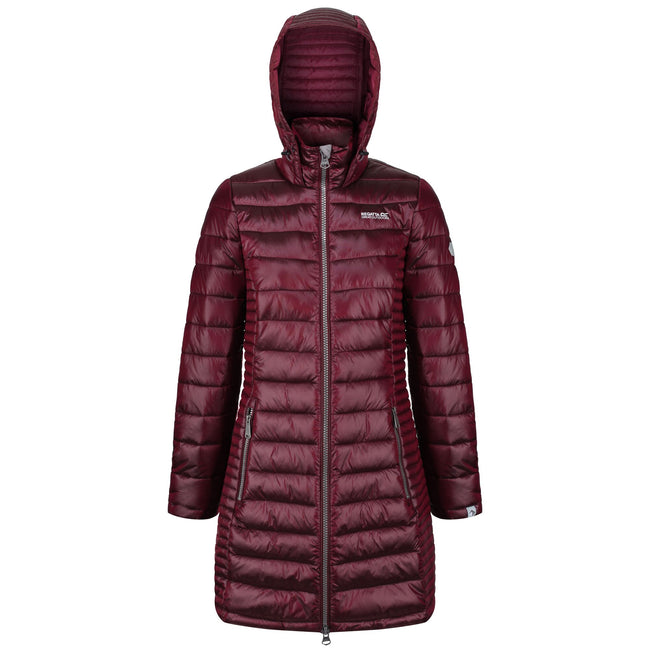 Beetroot - Front - Regatta Womens-Ladies Andel Hooded Baffle Jacket