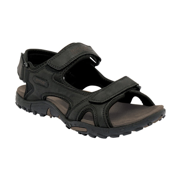 Black - Front - Regatta Great Outdoors Mens Haris Sandals