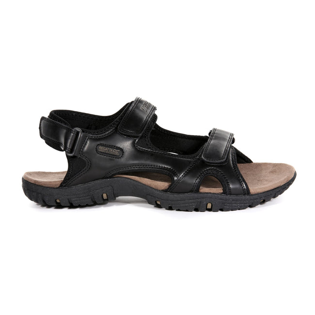 Black - Back - Regatta Great Outdoors Mens Haris Sandals