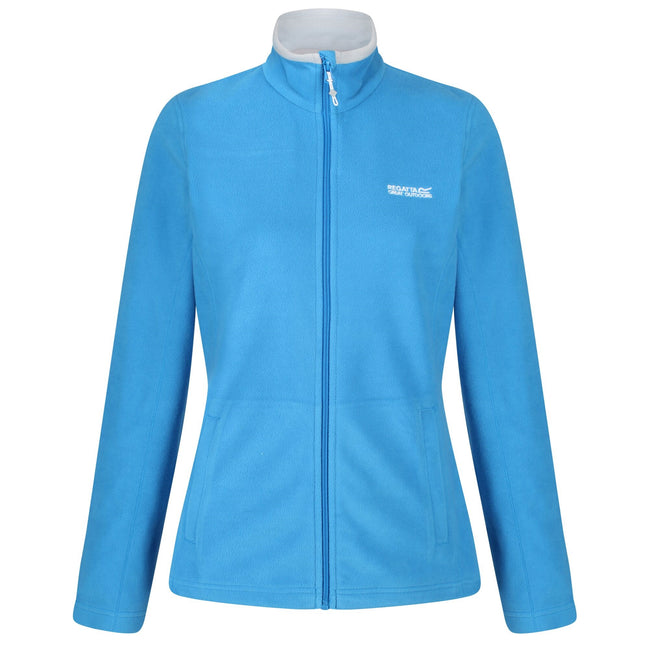 Dark Cerise-Light Steel - Front - Regatta Great Outdoors Womens-Ladies Adventure Tech Clemance II Fleece Top