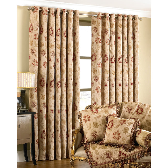 Champagne - Front - Riva Home Zurich Ringtop Curtains
