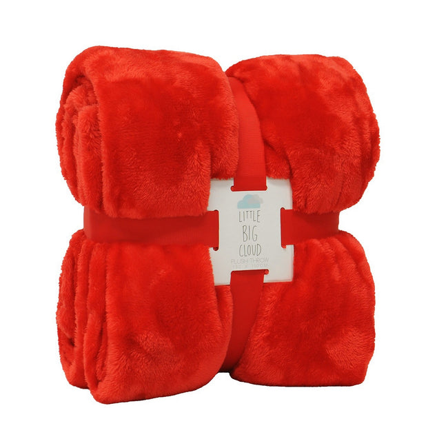 Red - Front - Riva Home Little Big Cloud Plush Throw
