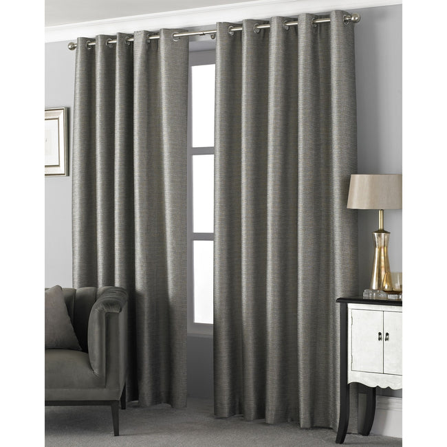 Taupe - Lifestyle - Riva Home Viceroy Ringtop Eyelet Curtains