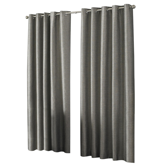 Taupe - Front - Riva Home Viceroy Ringtop Eyelet Curtains
