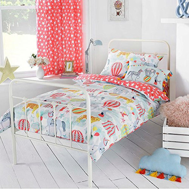Multicolour - Front - Riva Home Vintage Circus Duvet Cover Set