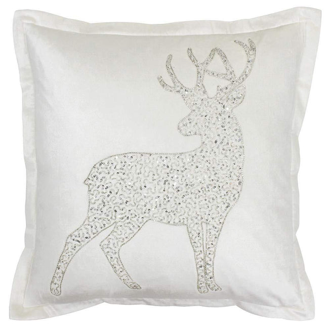 White - Front - Riva Paoletti Wonderland Prancer Christmas Cushion Cover