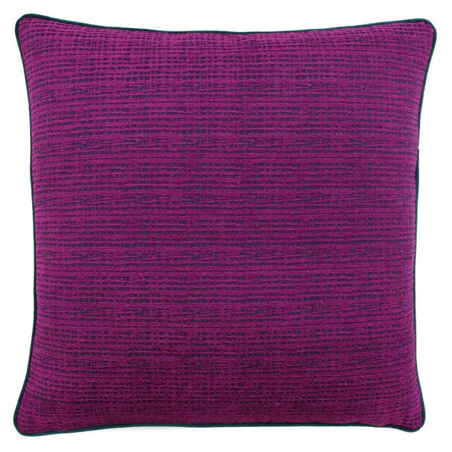 Magenta-Emerald - Back - Riva Paoletti Chiswick Cushion Cover