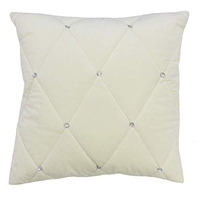 Cream - Front - Riva Paoletti New Diamante Cushion Cover