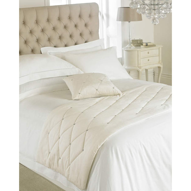Cream - Front - Riva Paoletti New Diamante Bed Runner