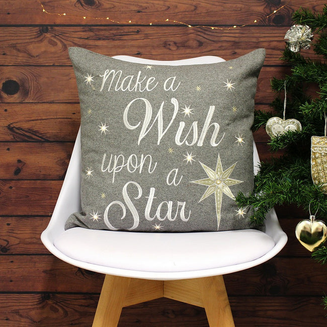 Grey - Lifestyle - Riva Paoletti Wish Upon A Star Cushion Cover