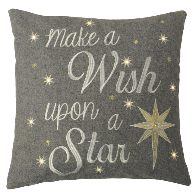 Grey - Front - Riva Paoletti Wish Upon A Star Cushion Cover