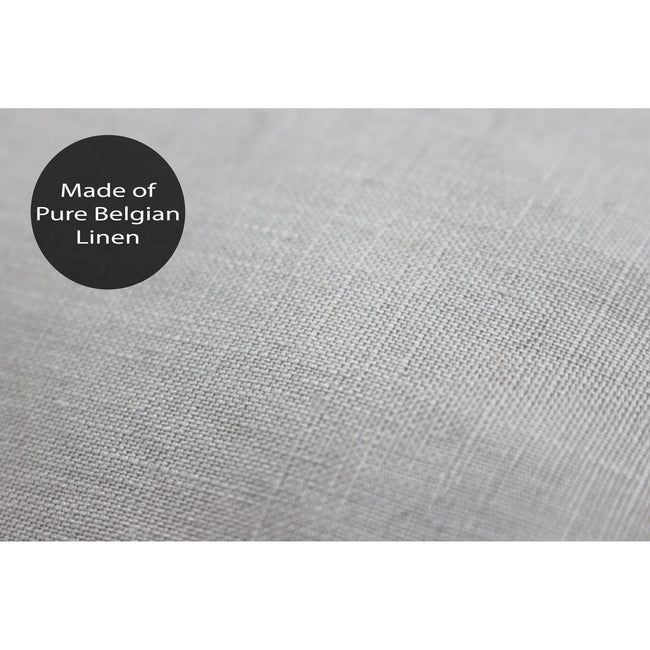 Grey - Close up - Linen House Nimes Continental Sham Pillowcase Cover