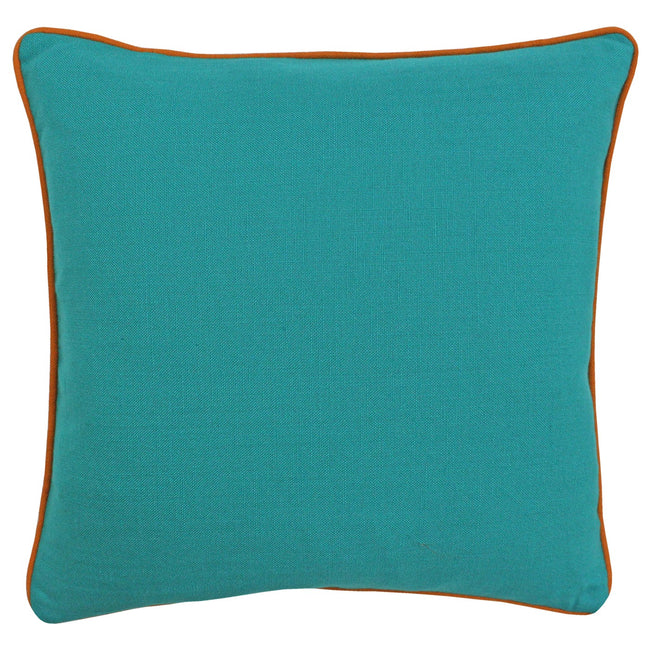 Turquoise-Orange - Front - Paoletti Bamboo Cushion Cover