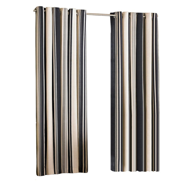 Coffee - Front - Riva Home Broadway Ringtop Curtains