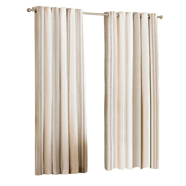 Raspberry - Front - Riva Home Broadway Ringtop Curtains