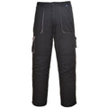 Black - Side - Portwest Mens Contrast Workwear Trousers (TX11) - Pants