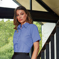 Royal - Back - Premier Short Sleeve Poplin Blouse - Plain Work Shirt