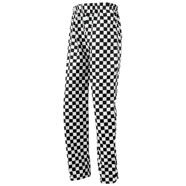 Black-White (Big Check) - Front - Premier Essential Unisex Chefs Trouser - Catering Workwear